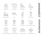 set of 16 thin linear icons... | Shutterstock .eps vector #1328940449
