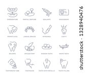 set of 16 thin linear icons... | Shutterstock .eps vector #1328940476