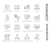 set of 16 thin linear icons... | Shutterstock .eps vector #1328940536