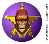 monkey  gorilla star of hip hop ... | Shutterstock .eps vector #1328944256