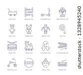 set of 16 thin linear icons... | Shutterstock .eps vector #1328945240