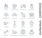 set of 16 thin linear icons... | Shutterstock .eps vector #1328945243