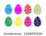 set of colored easter eggs for... | Shutterstock .eps vector #1328953220