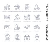 set of 16 thin linear icons... | Shutterstock .eps vector #1328953763