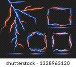 vector lightning effect. light... | Shutterstock .eps vector #1328963120