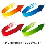 Pixel Arrow Logo Element