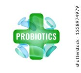 probiotics sign. normal gram... | Shutterstock .eps vector #1328974979