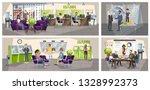 bank office interior. people... | Shutterstock .eps vector #1328992373