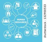 human resource network template ...   Shutterstock .eps vector #132900533