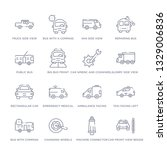 set of 16 thin linear icons... | Shutterstock .eps vector #1329006836