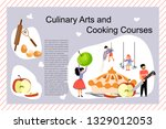 culinary art and cooking... | Shutterstock .eps vector #1329012053