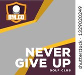 modern golf web banner vector | Shutterstock .eps vector #1329020249