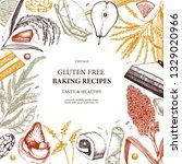 gluten free baking frame. hand... | Shutterstock .eps vector #1329020966