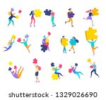 vector character business... | Shutterstock .eps vector #1329026690