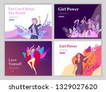 web page design template for... | Shutterstock .eps vector #1329027620