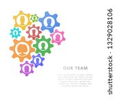 teamwork business concept with ... | Shutterstock .eps vector #1329028106