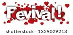 revival label word and red... | Shutterstock . vector #1329029213