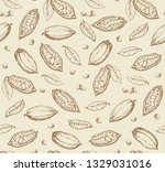 big old dry theobroma set on... | Shutterstock .eps vector #1329031016