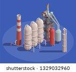 industrial buildings isometric... | Shutterstock .eps vector #1329032960