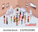 isometric guide excursion... | Shutterstock .eps vector #1329033080
