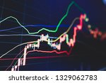 stock market trading graph and... | Shutterstock . vector #1329062783
