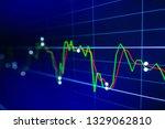 stock exchange market graph on...   Shutterstock . vector #1329062810