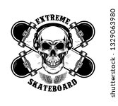 skateboarder emblem. crossed... | Shutterstock .eps vector #1329063980