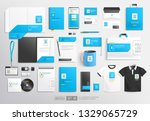 realistic white and blue... | Shutterstock .eps vector #1329065729