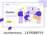 vector big data web page banner ... | Shutterstock .eps vector #1329088919