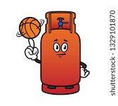 cartoon gas cylinder character...   Shutterstock .eps vector #1329101870