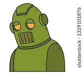 cartoon sad robot   Shutterstock .eps vector #1329101876