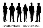 set of vector silhouettes of ... | Shutterstock .eps vector #1329106553