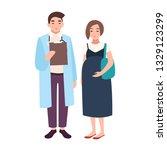 male doctor  medical adviser ...   Shutterstock .eps vector #1329123299