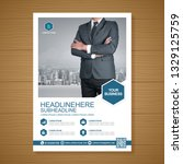 business cover a4 template for... | Shutterstock .eps vector #1329125759