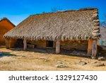 celtic castro of el raso or el... | Shutterstock . vector #1329127430