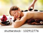 spa stone massage. beauty... | Shutterstock . vector #132912776