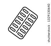 blister drug pack line icon....   Shutterstock .eps vector #1329130640
