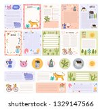 collection of weekly or daily... | Shutterstock .eps vector #1329147566