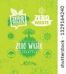 zero waste lifestyle.... | Shutterstock .eps vector #1329164240
