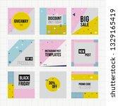 set of trendy geometric...   Shutterstock .eps vector #1329165419