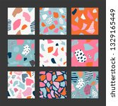 set with abstract pattern.... | Shutterstock .eps vector #1329165449