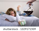 Woman With Hangover Being...