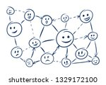 communication and social... | Shutterstock .eps vector #1329172100