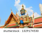 stone culture in thailand... | Shutterstock . vector #1329174530