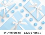 springtime layout with blue... | Shutterstock . vector #1329178583
