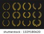laurel wreaths vector set.... | Shutterstock .eps vector #1329180620