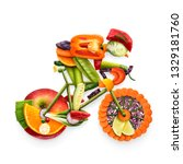 creative diet food healthy... | Shutterstock . vector #1329181760