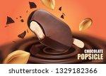 chocolate ice cream popsicle... | Shutterstock .eps vector #1329182366