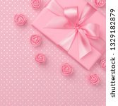 springtime decorated pink gift... | Shutterstock . vector #1329182879