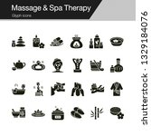 massage and spa therapy icons....